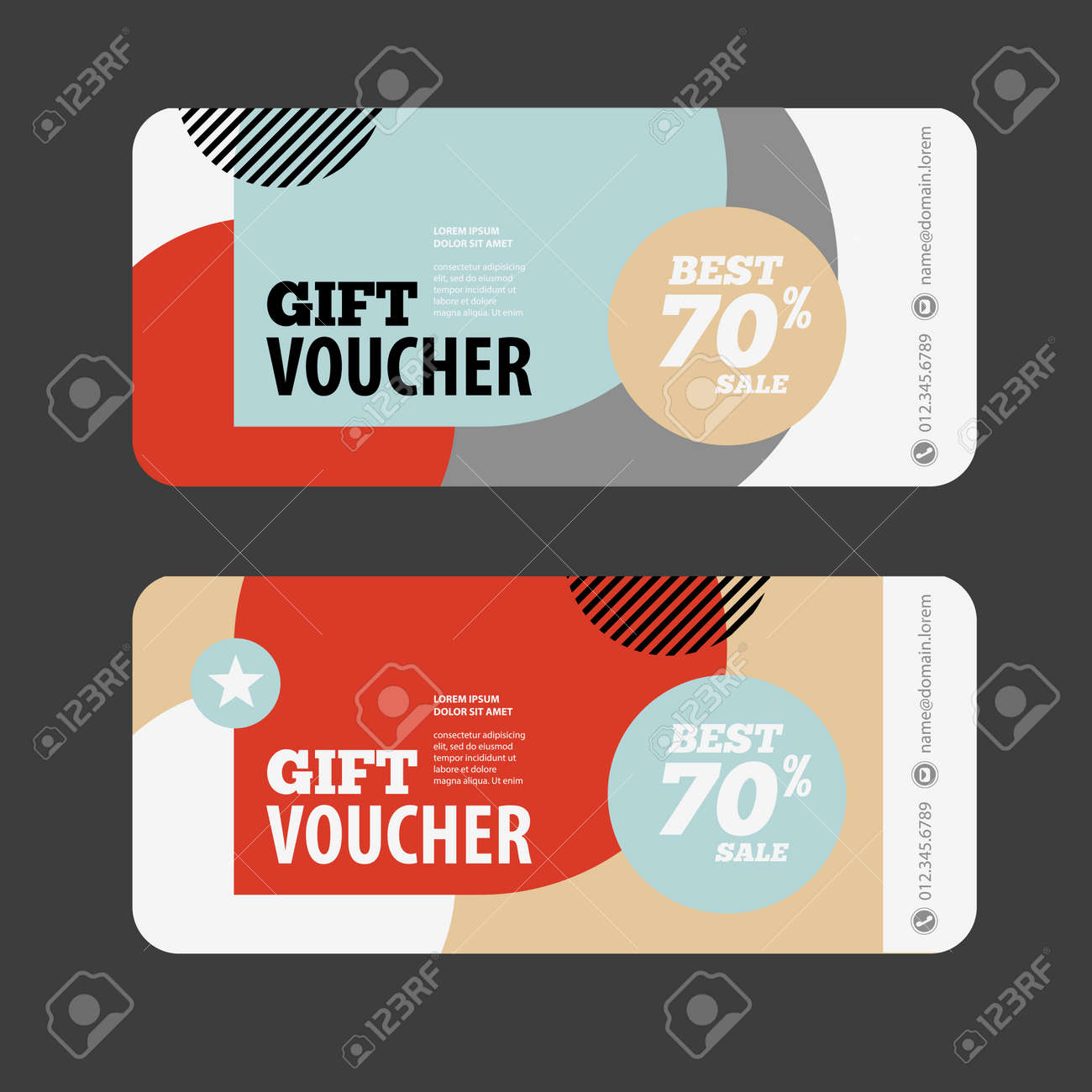 Abstract Gift Voucher Or Coupon Design Template. Voucher Design ...