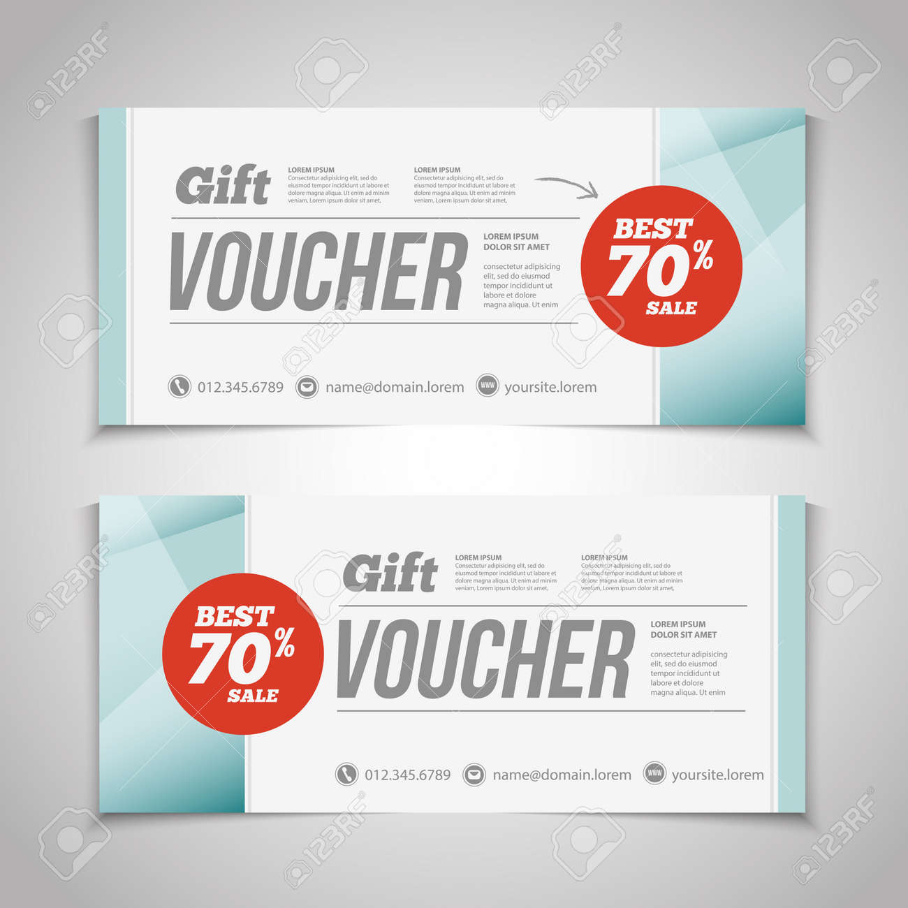 abstract gift voucher or coupon design template voucher design blank print design