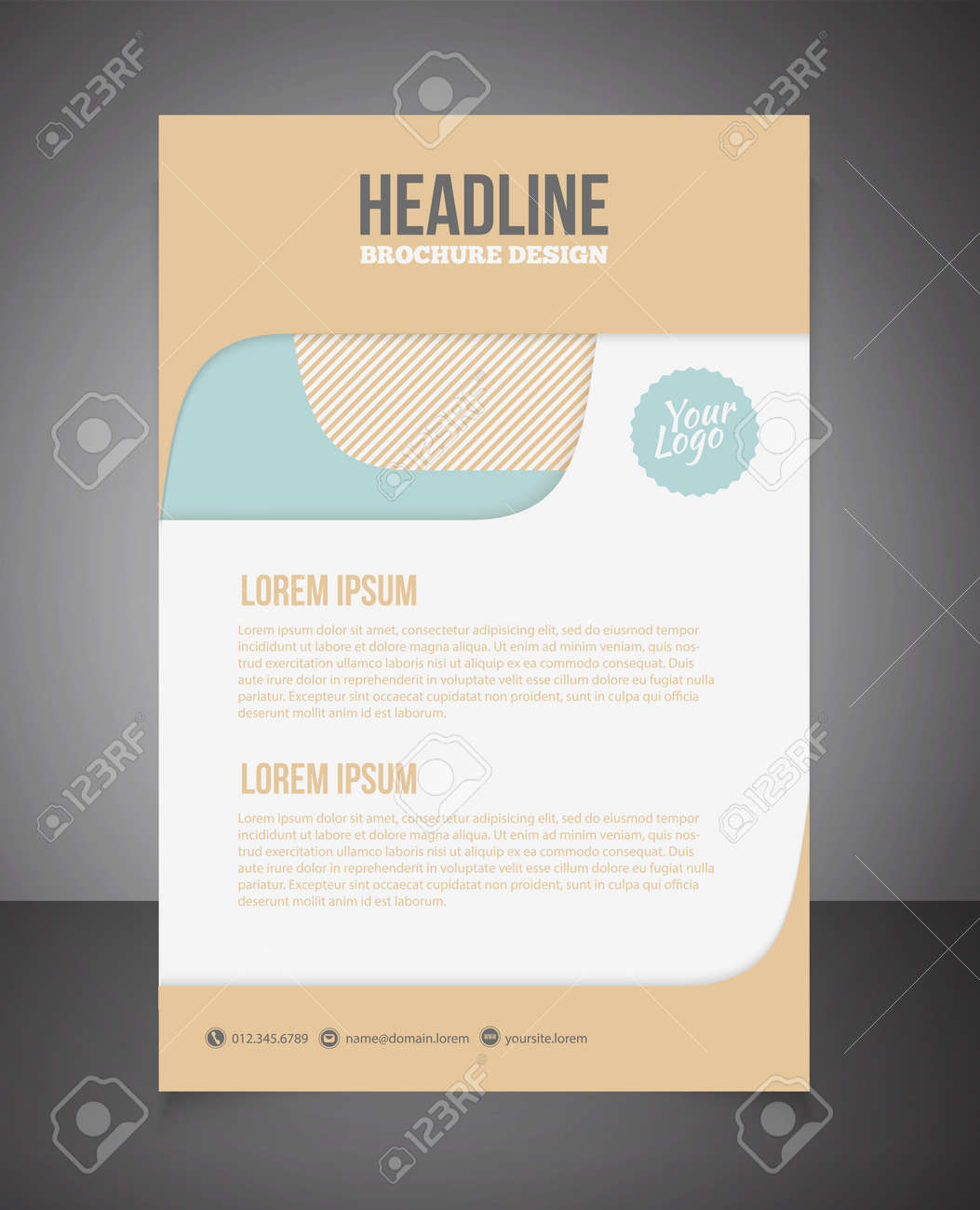 Business Brochure Or Offer Flyer Design Template Brochure Design