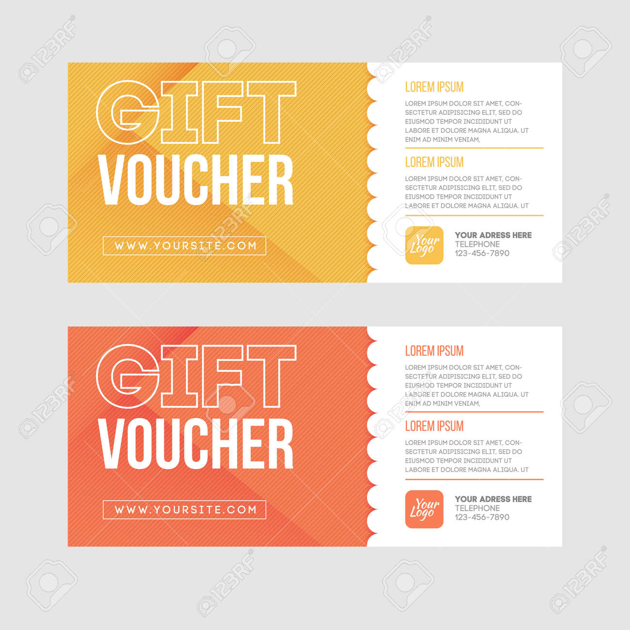 certificate template stock photos images royalty certificate template gift voucher template set two gift cards design