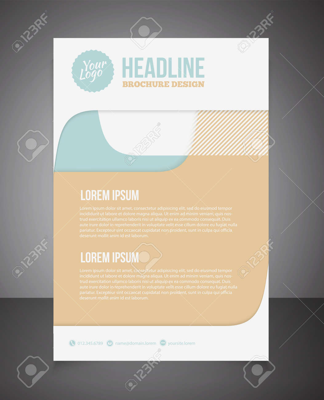 Business Broschüre Oder Angebot Flyer Design Vorlage Broschüre