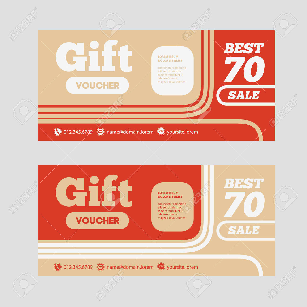 Gift Voucher Template With Amount Of Discount And Contact ...