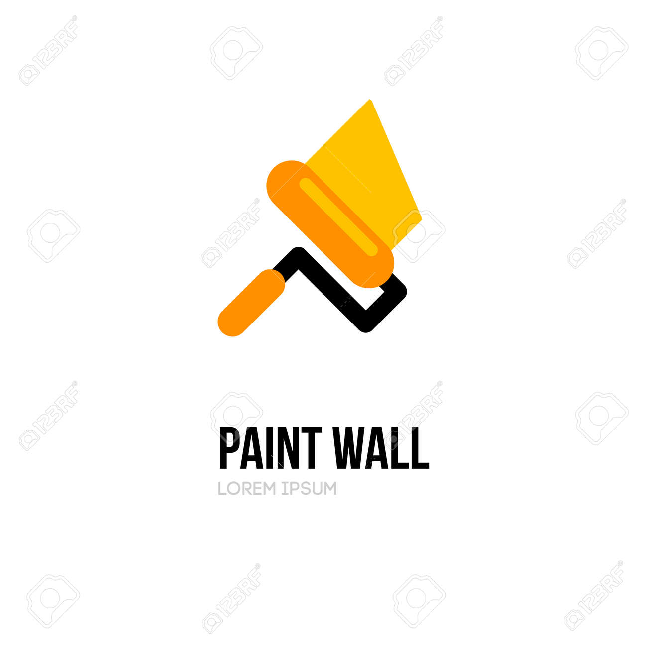 Paint Roller Logo Icon Design Template Vector Paint Roll Logo