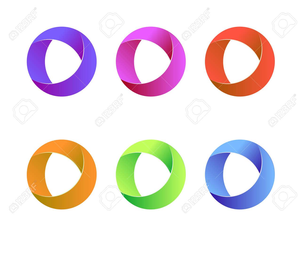 Vector Circle Logo. Vector Circle Round Logo Design. Abstract ...