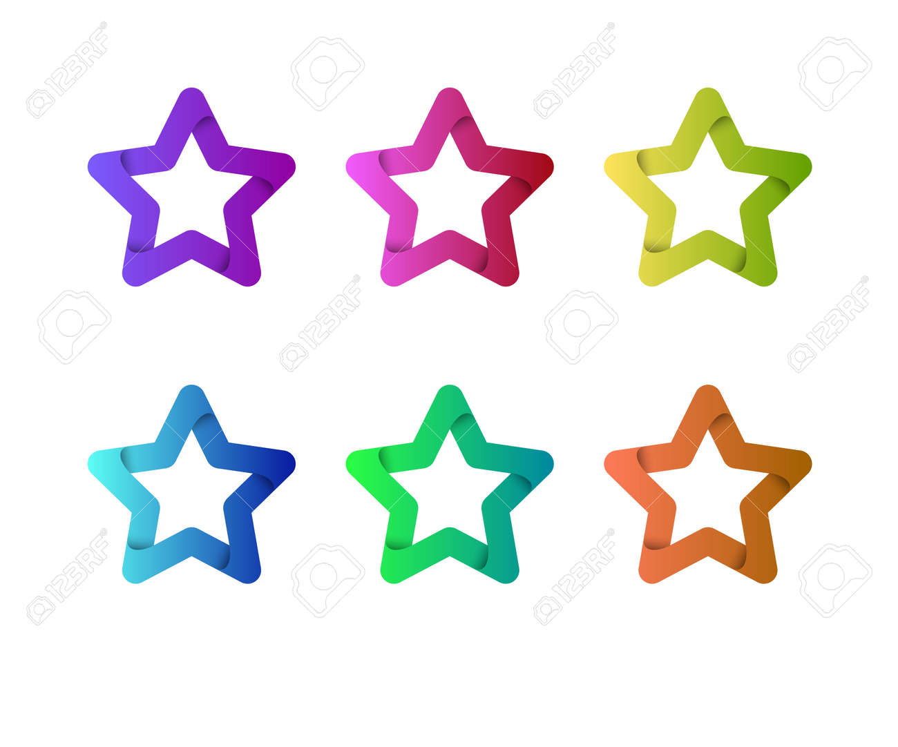 star vector logo template star emblem celebrity star champion rating star