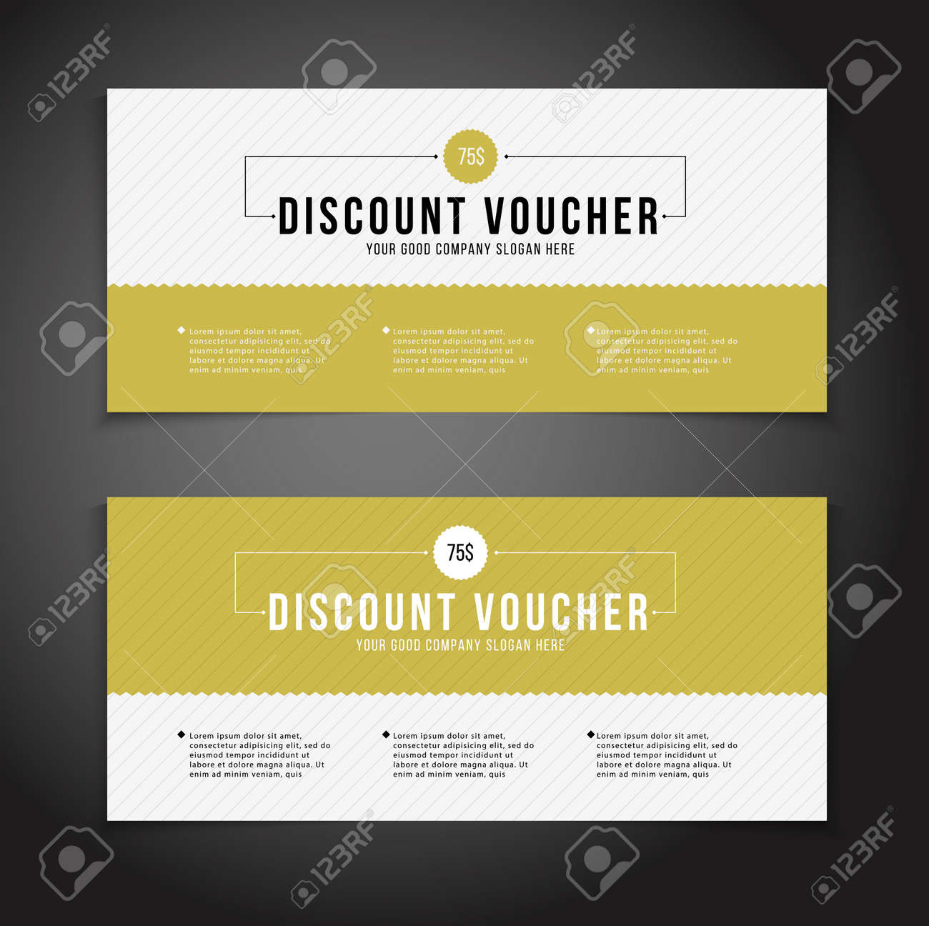 Gift Or Discount Voucher Template With Modern Design, Special Offer Or  Certificate Coupon Stock Vector  Discount Voucher Design