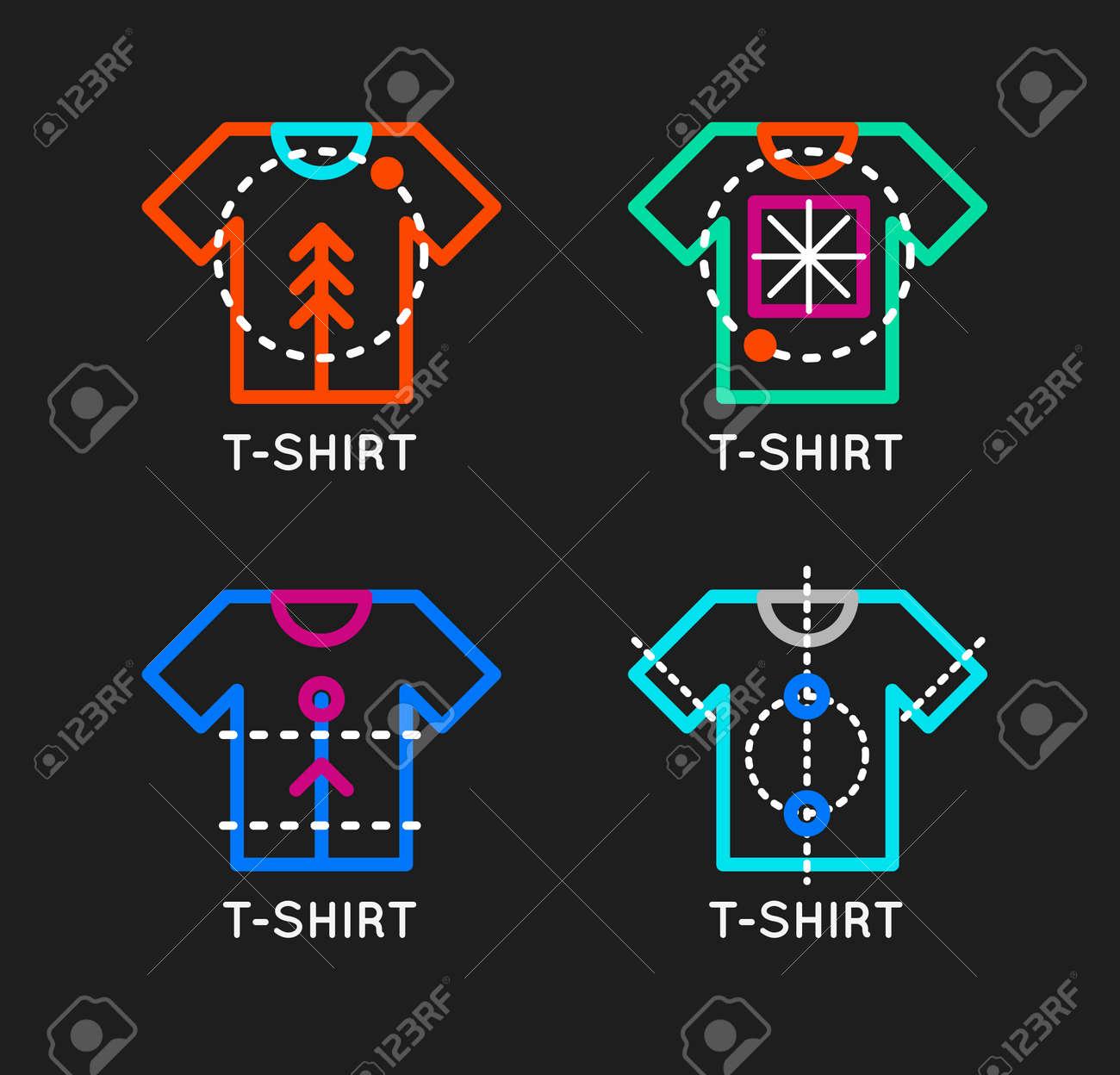 Vector T Shirt Logo Set Online Shop Logo Clothing Shop Vector