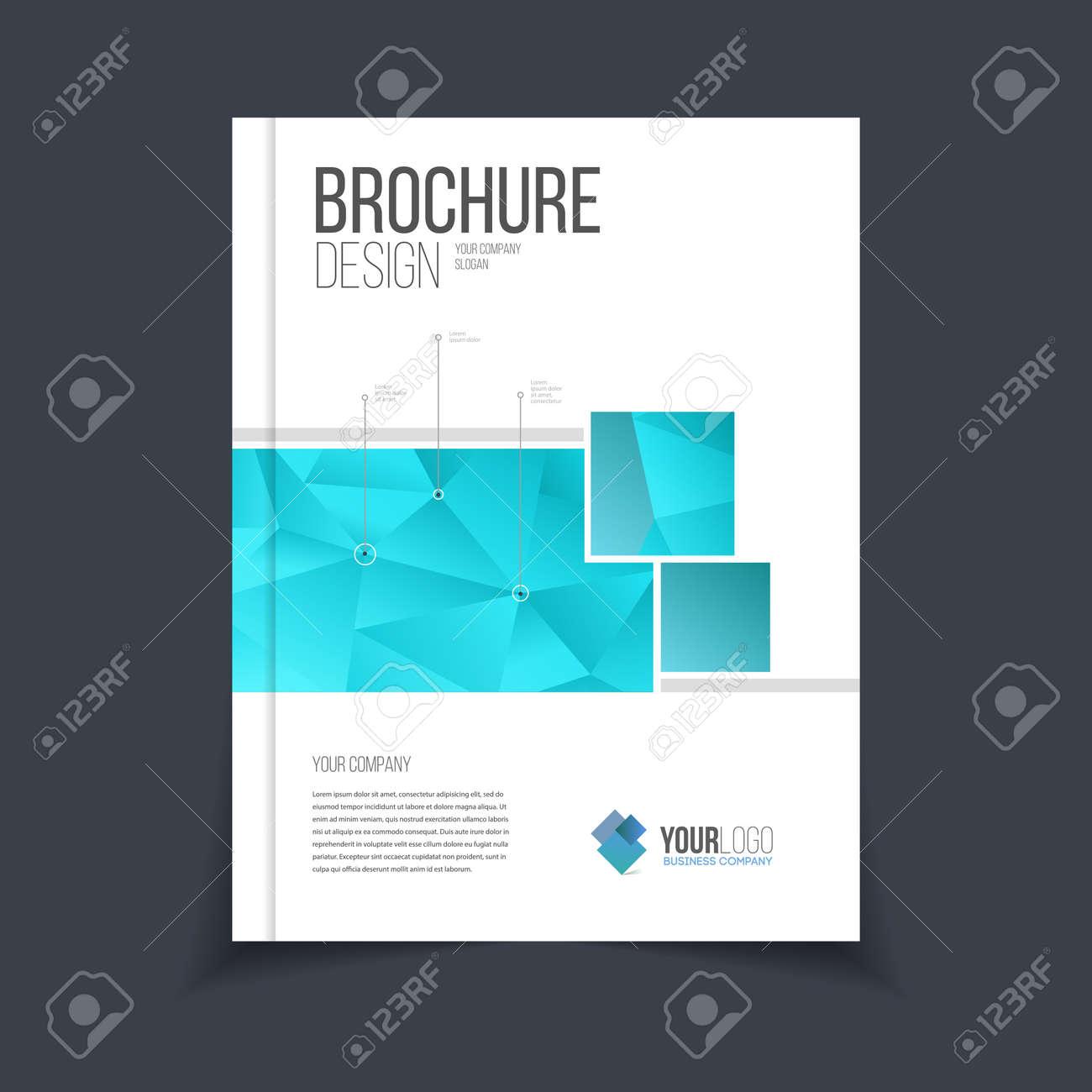 Vector Brochure Template Annual Report Cover Design Catalog