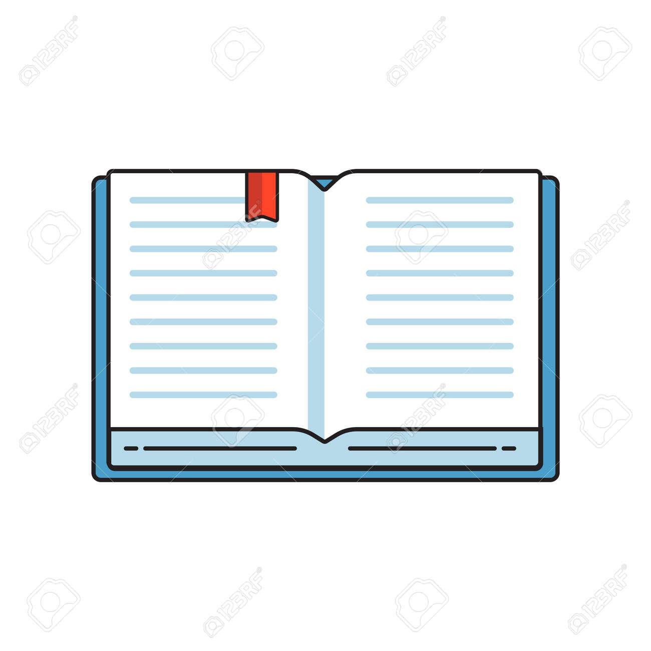 Pila De Libros De Colores. El Logotipo De La Librería. El Icono De ...