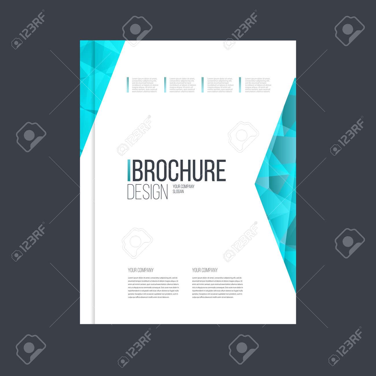 Vektor-Broschüre Vorlage. Jahresbericht Cover-Design. Katalog Oder ...