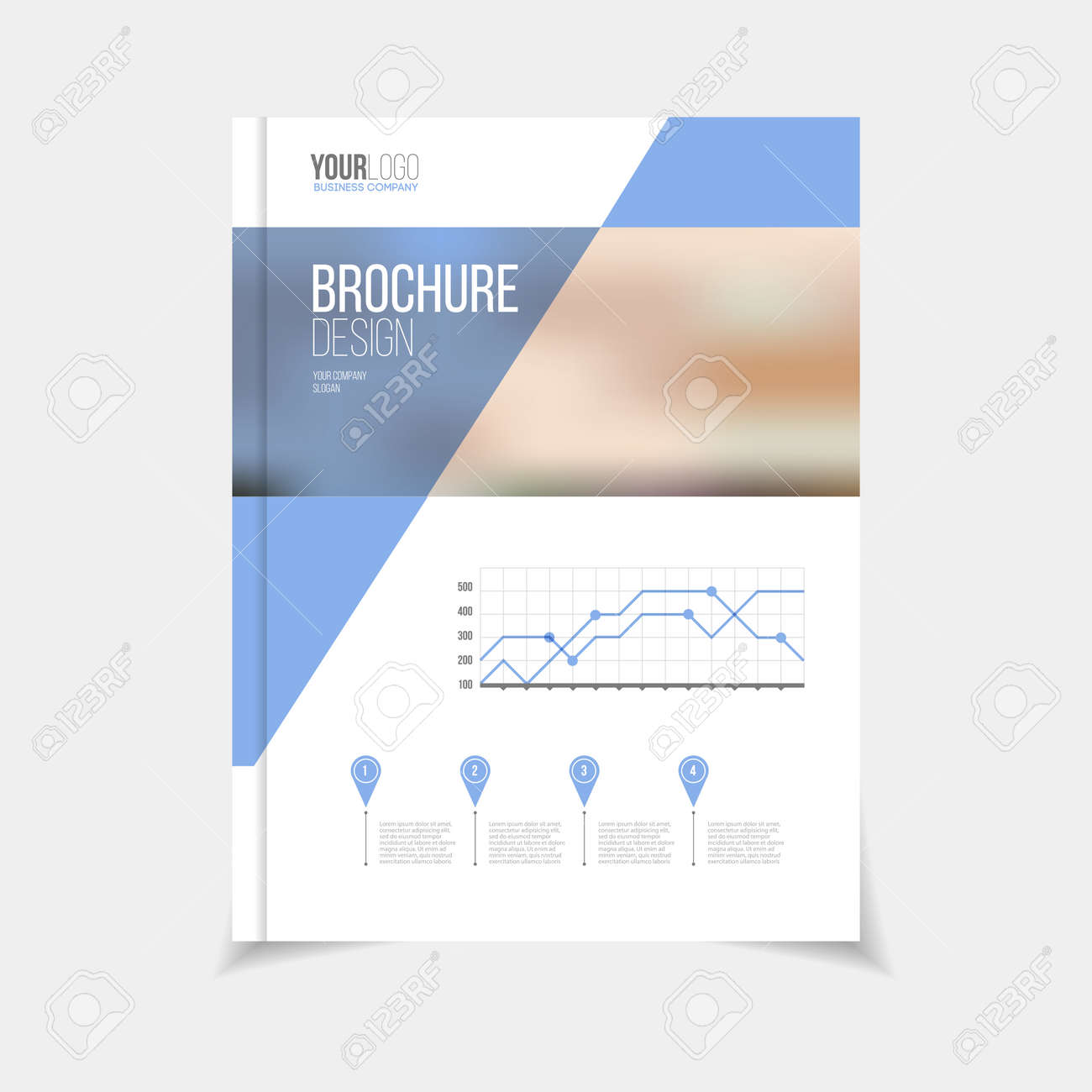 brochure template vector illustration cover design annual report