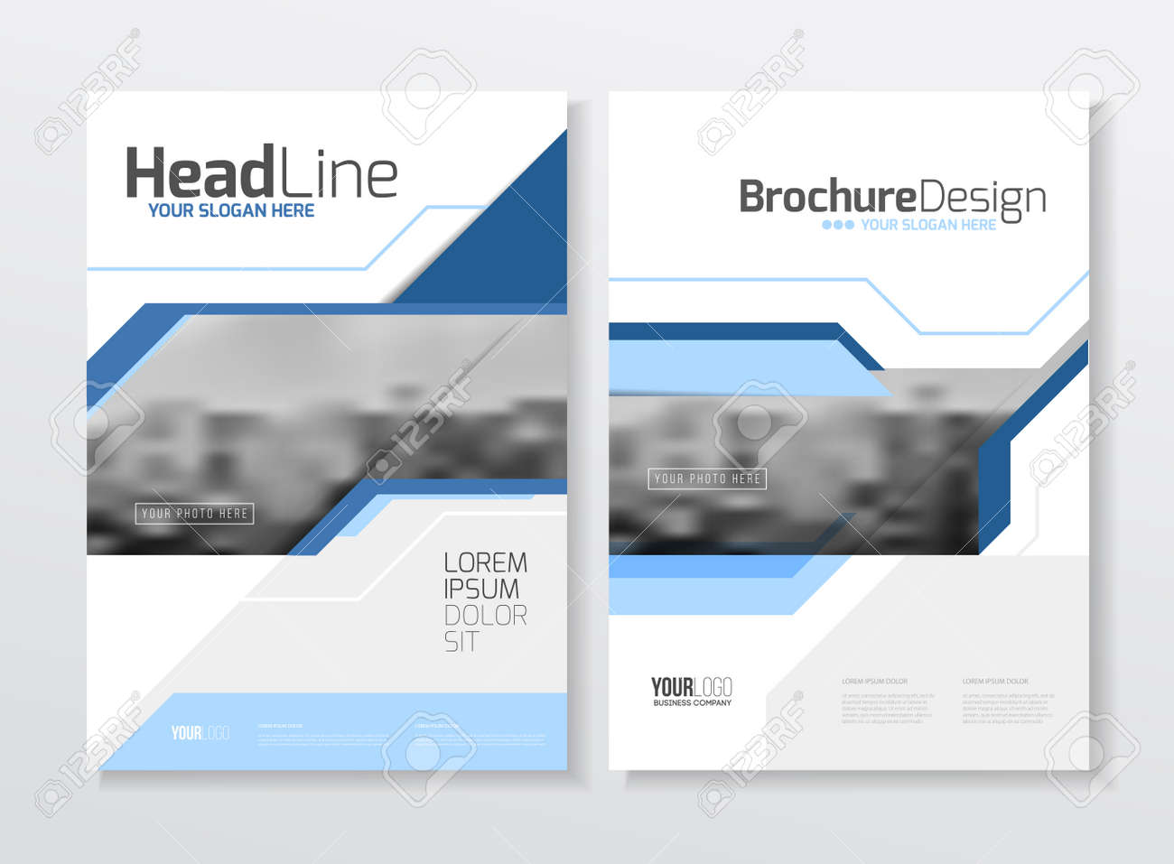 Business Brochure design  Annual report vector illustration template