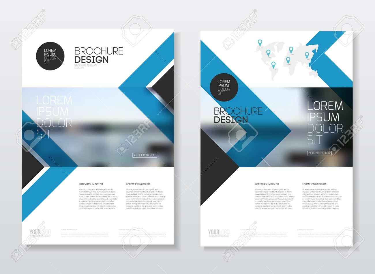 Catalogue Cover Design. Annual Report Vector Illustration Template ...