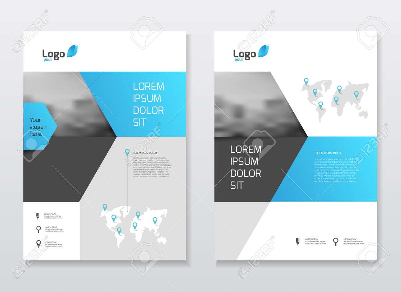abstract business brochure design vector template in a size abstract business brochure design vector template in a4 size document or book cover annual