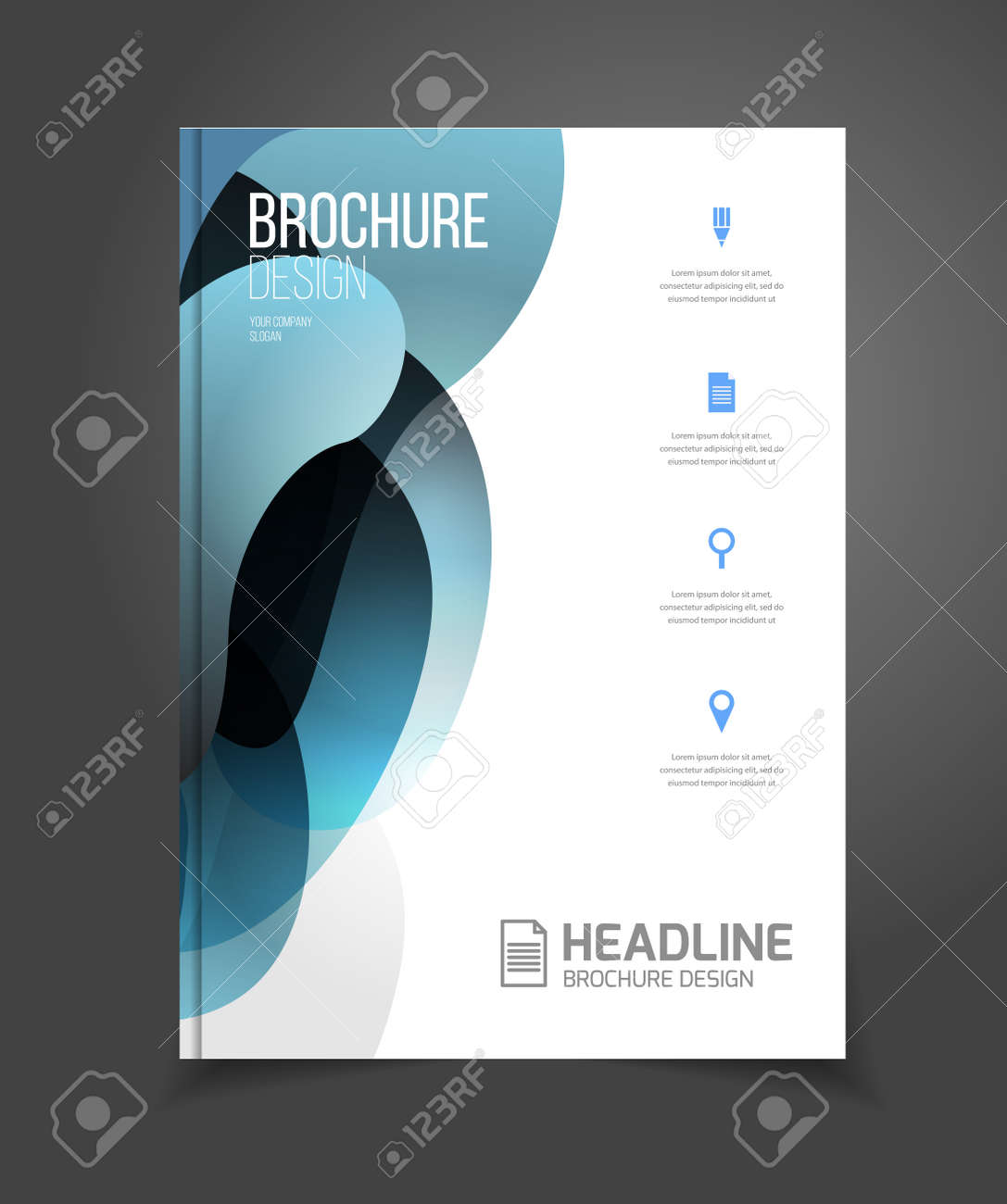 Broschüre Vorlage Vektor-Illustration, Cover-Design Jahresbericht ...