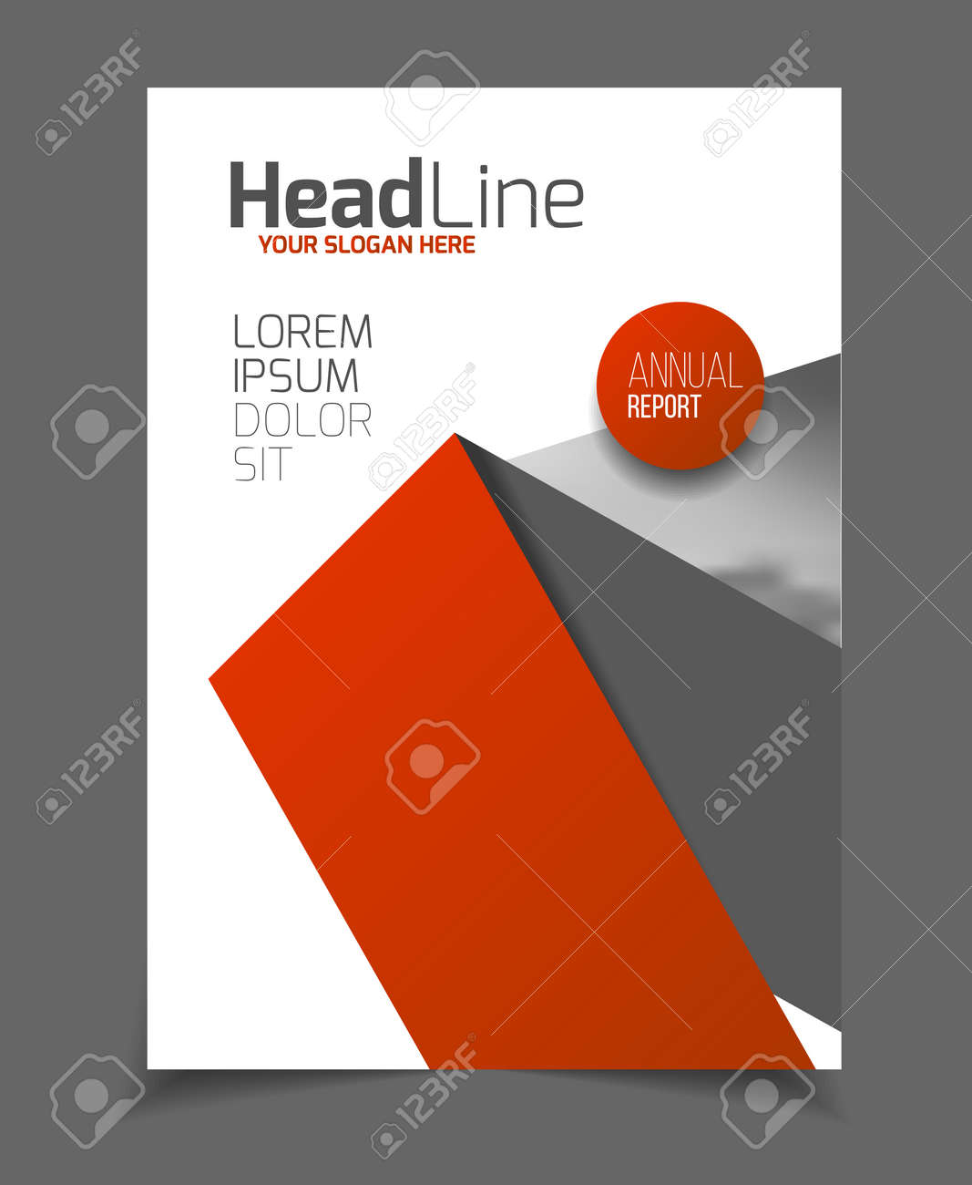 annual report leaflet brochure flyer template a4 size design