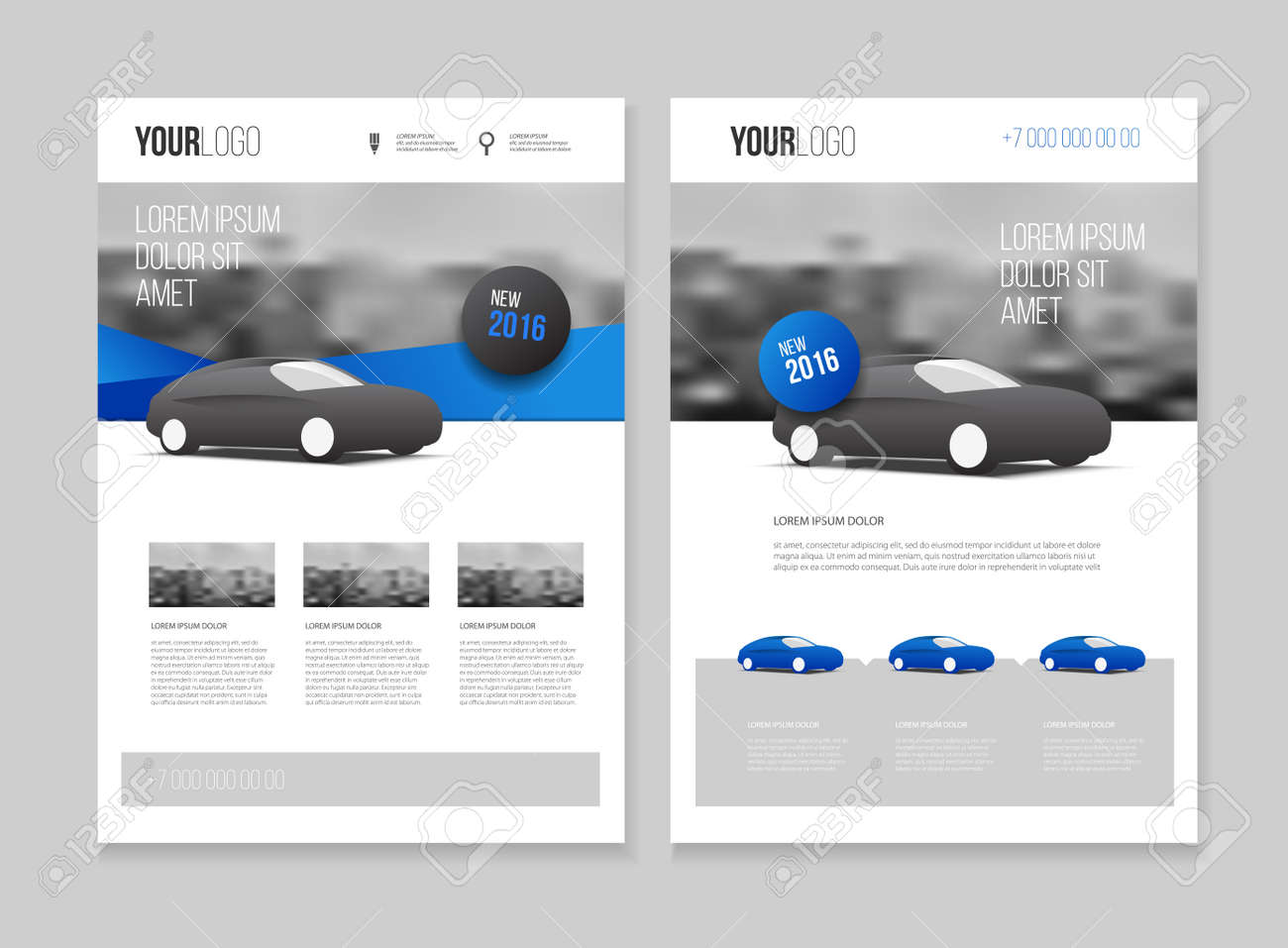 car brochure auto leaflet brochure flyer template a4 size design