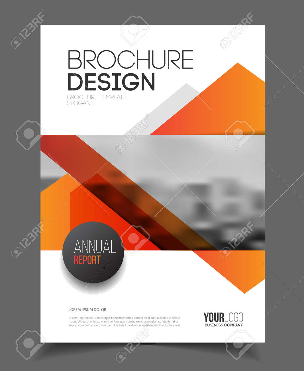 Abstract Business Flyer Design Vector Template In A4 Size. Document ...