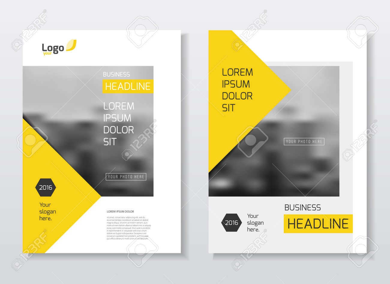 abstract business brochure design vector template in a4 size document or book cover annual