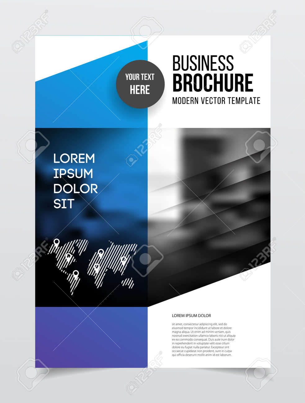 abstract business flyer design vector template in a4 size document or book cover annual