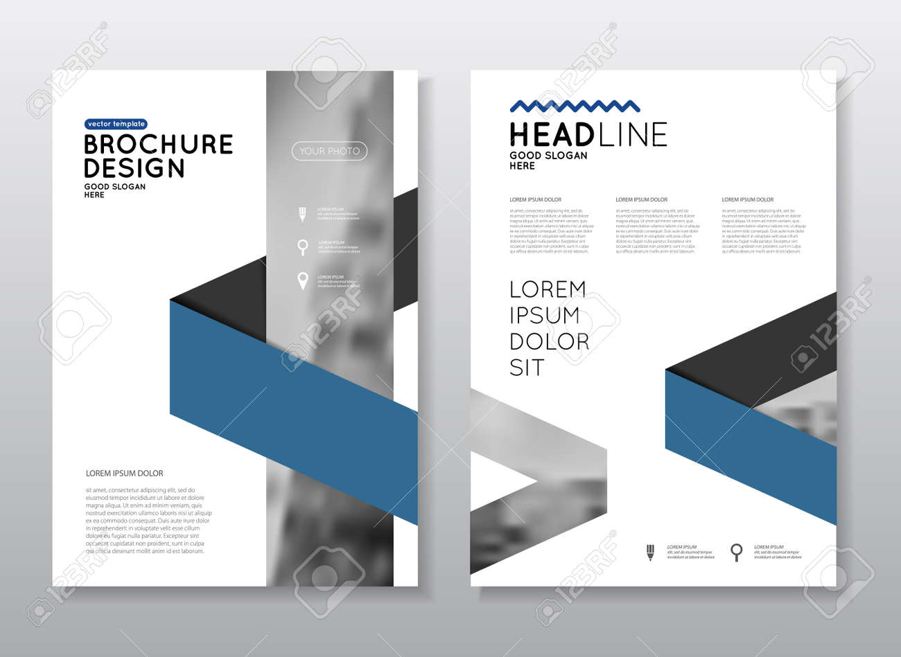 annual report vector illustration brochure with text a4 size