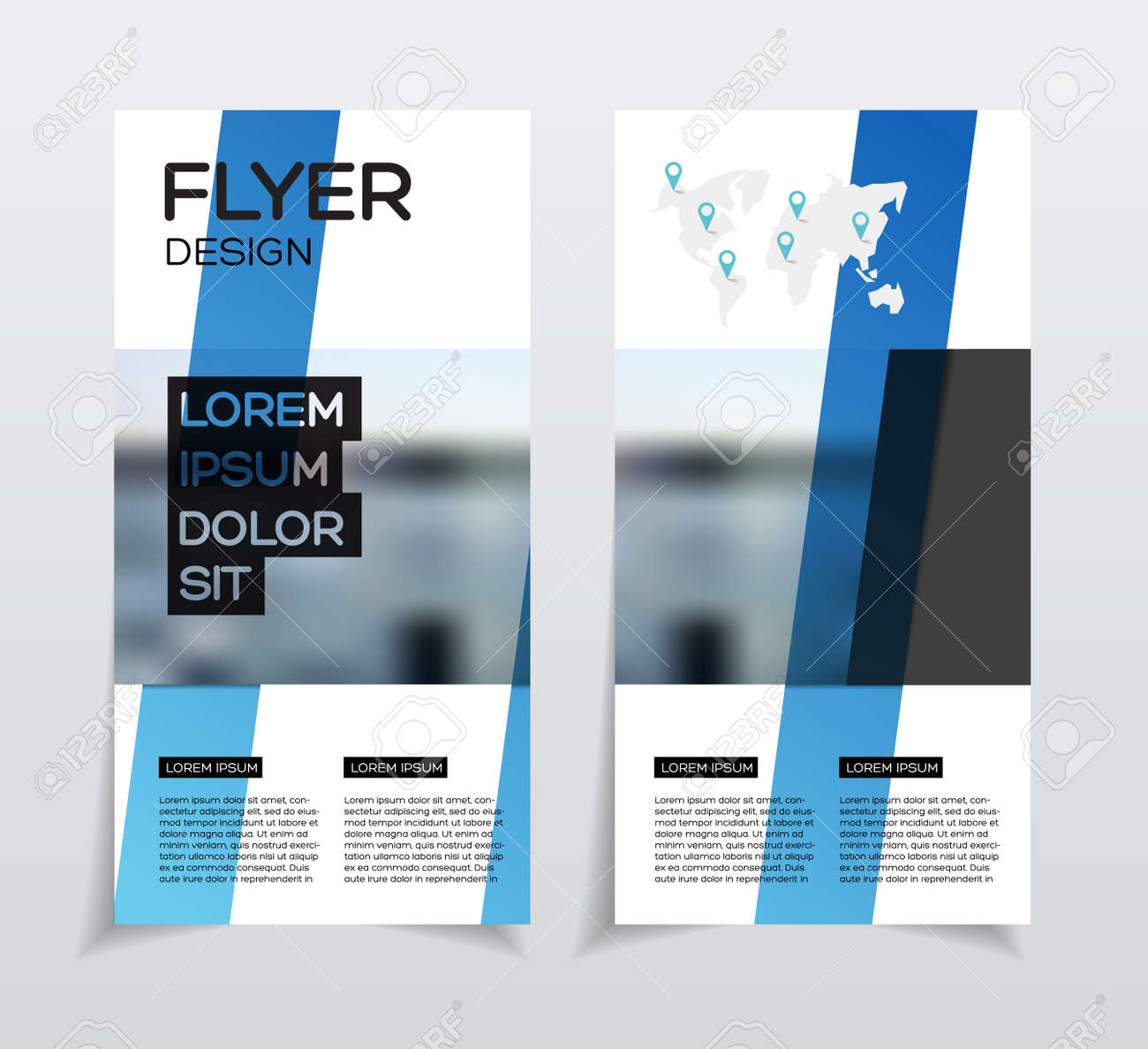 business brochure design annual report vector illustration template