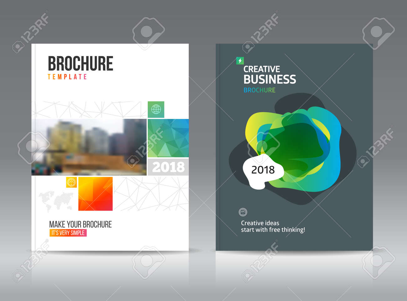 abstract business brochure design vector template in a4 size for document or book cover