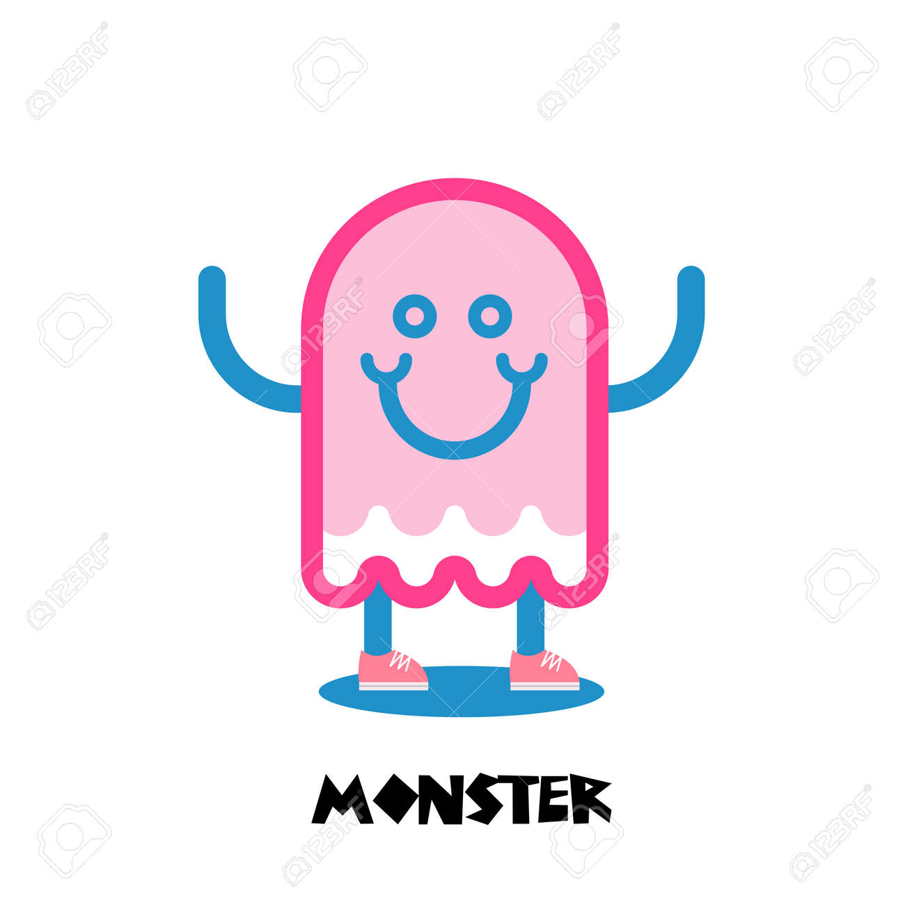 kids monster logo child toy icon for business royalty free rh 123rf com pink monster energy shirt pink monster energy decal