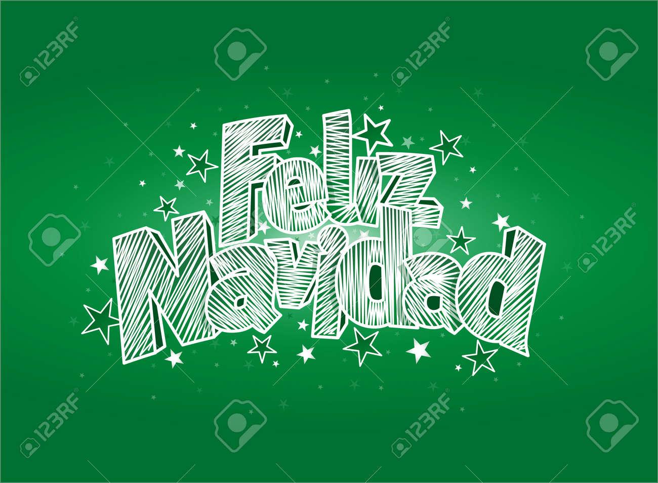 Feliz navidad merry christmas in spanish language green cover feliz navidad merry christmas in spanish language green cover of greeting card layout m4hsunfo