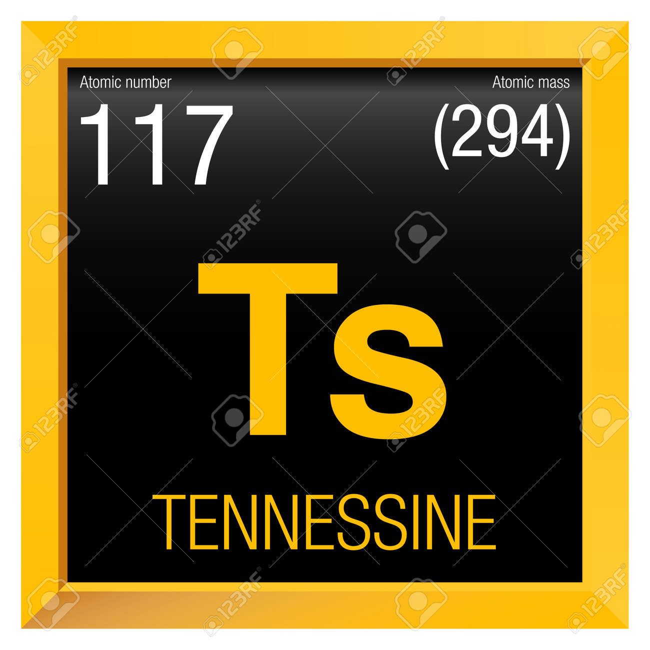 Tennessine symbol element number 117 of the periodic table of tennessine symbol element number 117 of the periodic table of the elements chemistry urtaz Choice Image