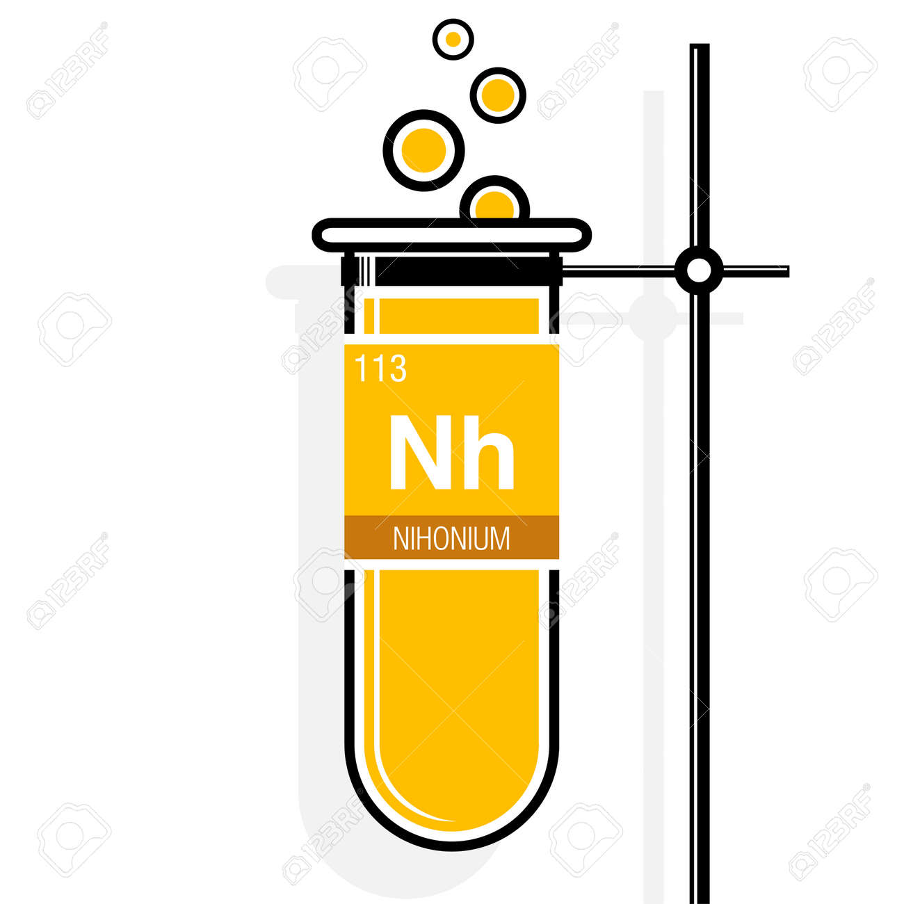 Nihonium symbol on label in a yellow test tube with holder element nihonium symbol on label in a yellow test tube with holder element number 113 of urtaz Image collections
