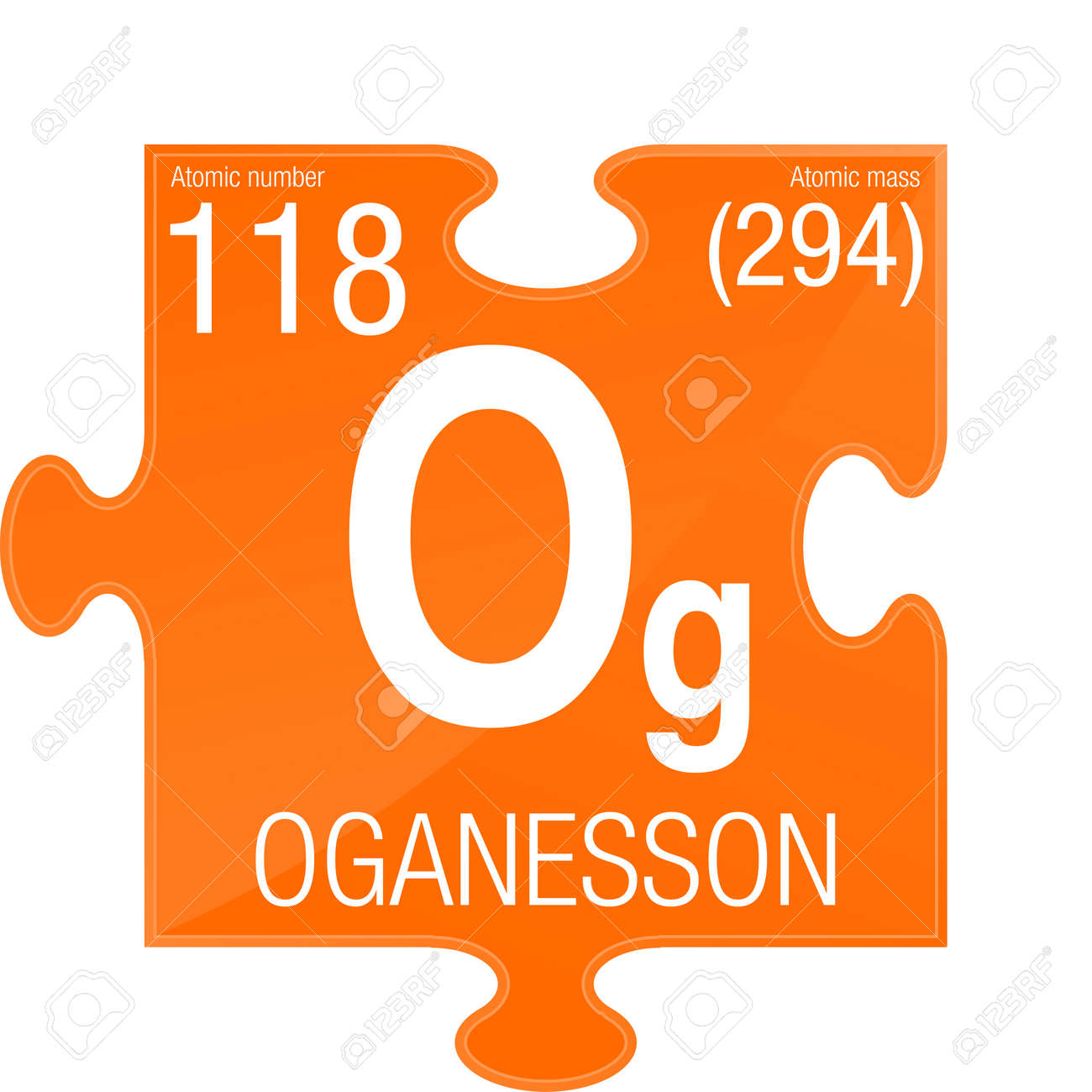Oganesson Symbol Element Number 118 Of The Periodic Table Of