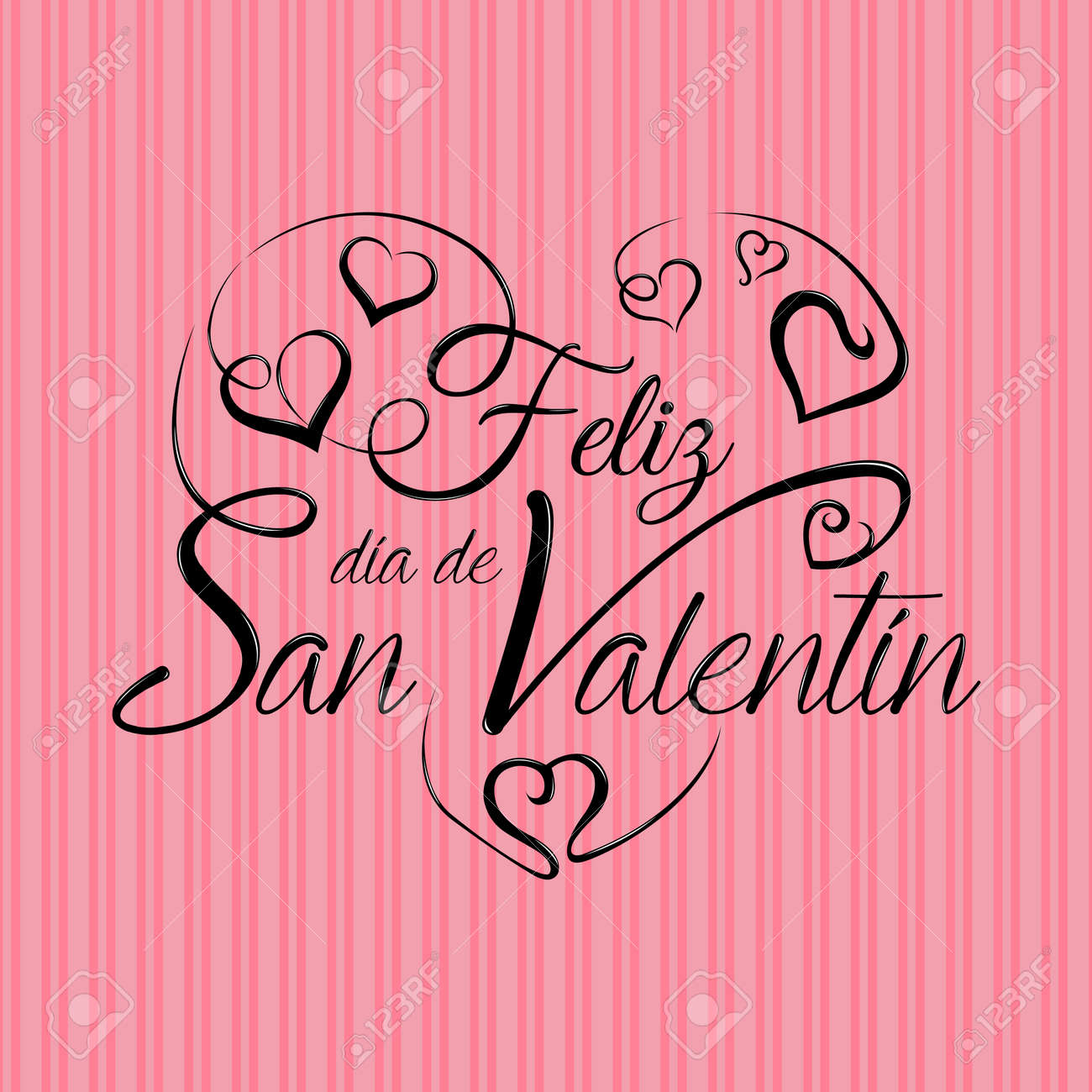 Lettering Feliz Dia De San Valentin Happy Valentines Day In