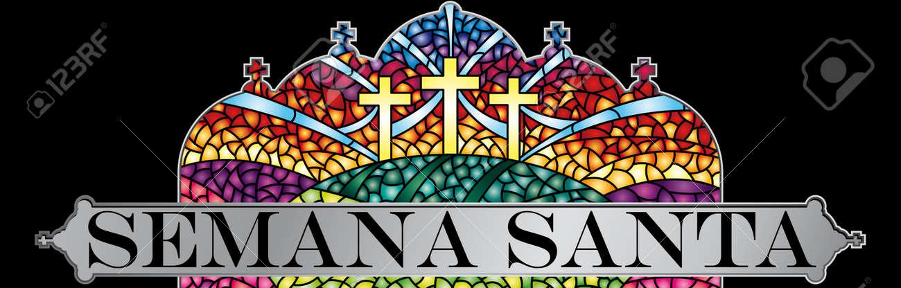 Semana Santa - Semana Santa En Idioma Español - En Vidrieras Con El ...