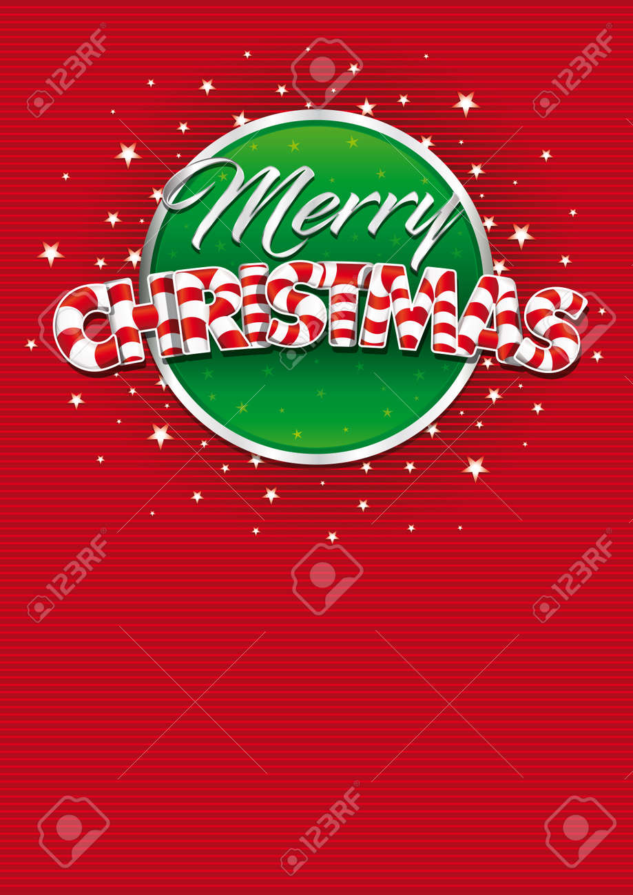 Merry christmas lettering red cover of greeting card with lines red cover of greeting card with lines texture in background layout kristyandbryce Images