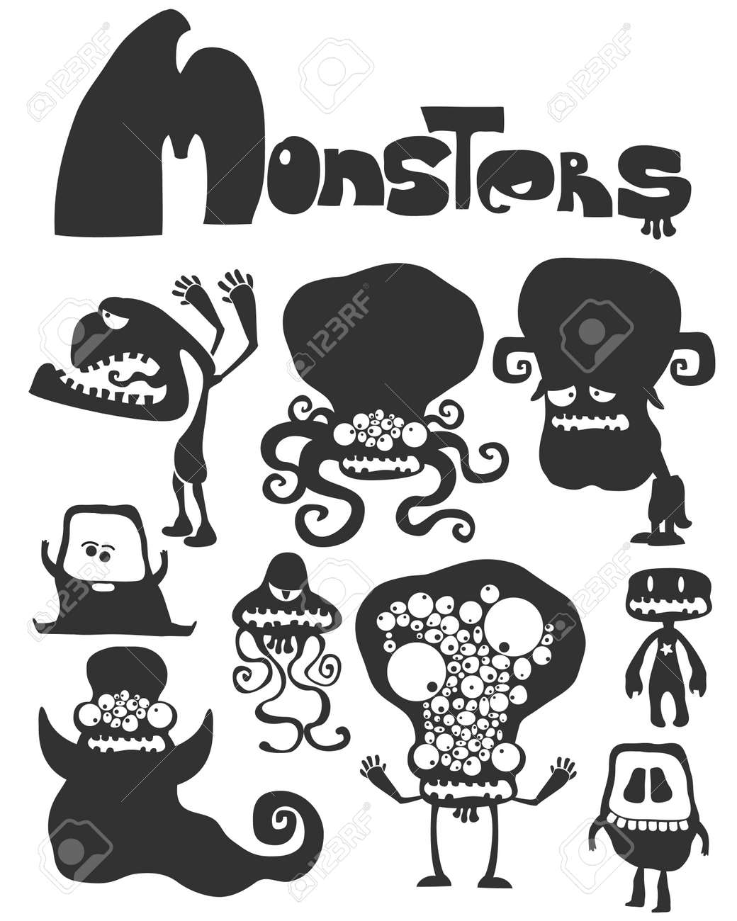 The set of monsters. Stock Vector - 20630553