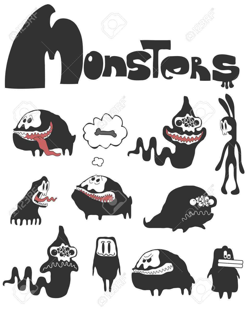 The set of monsters. Stock Vector - 20630554