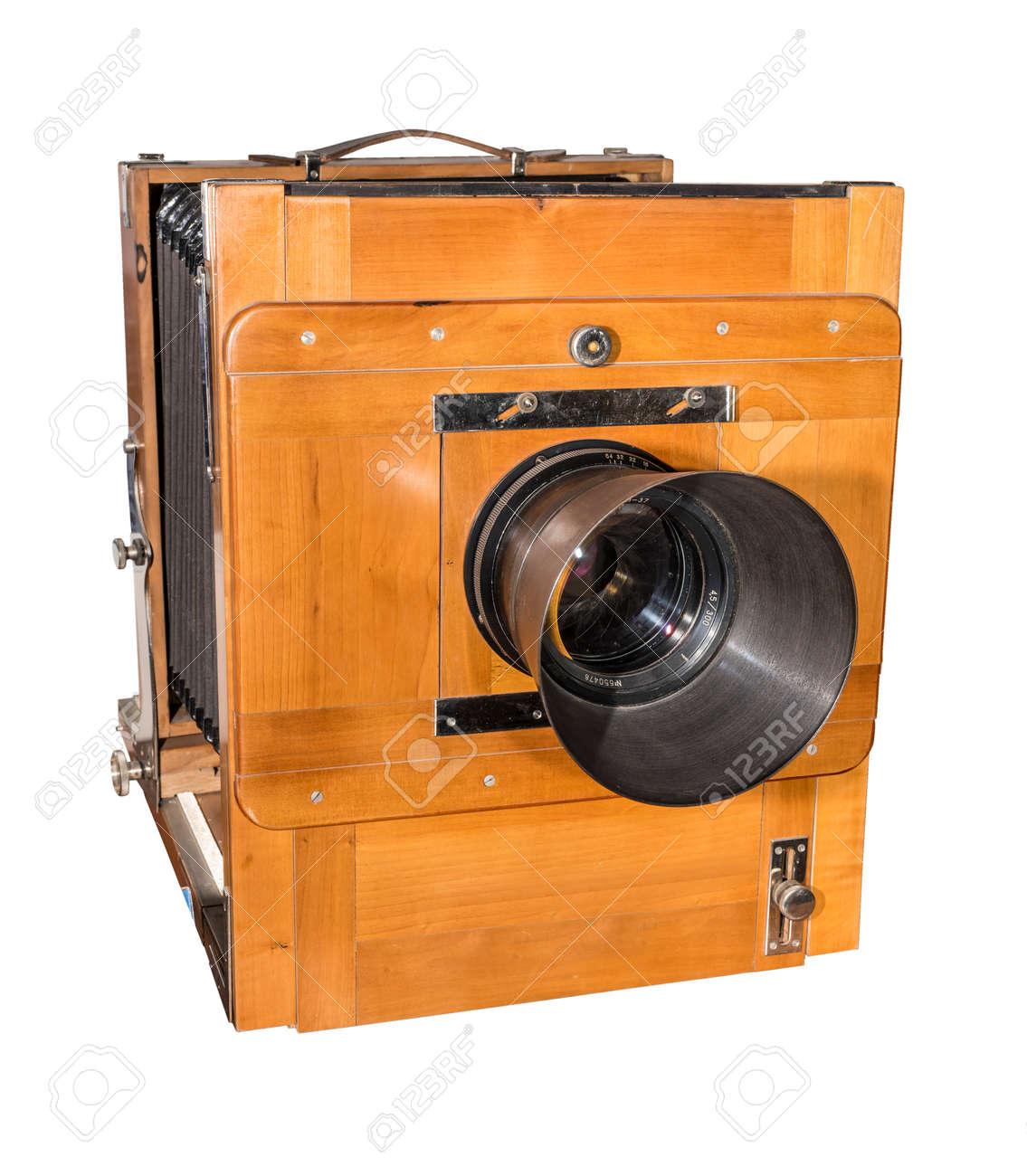 Fotokamera Eine Alte, Hölzerne, Rahmengröße 18 X 24 Cm ...