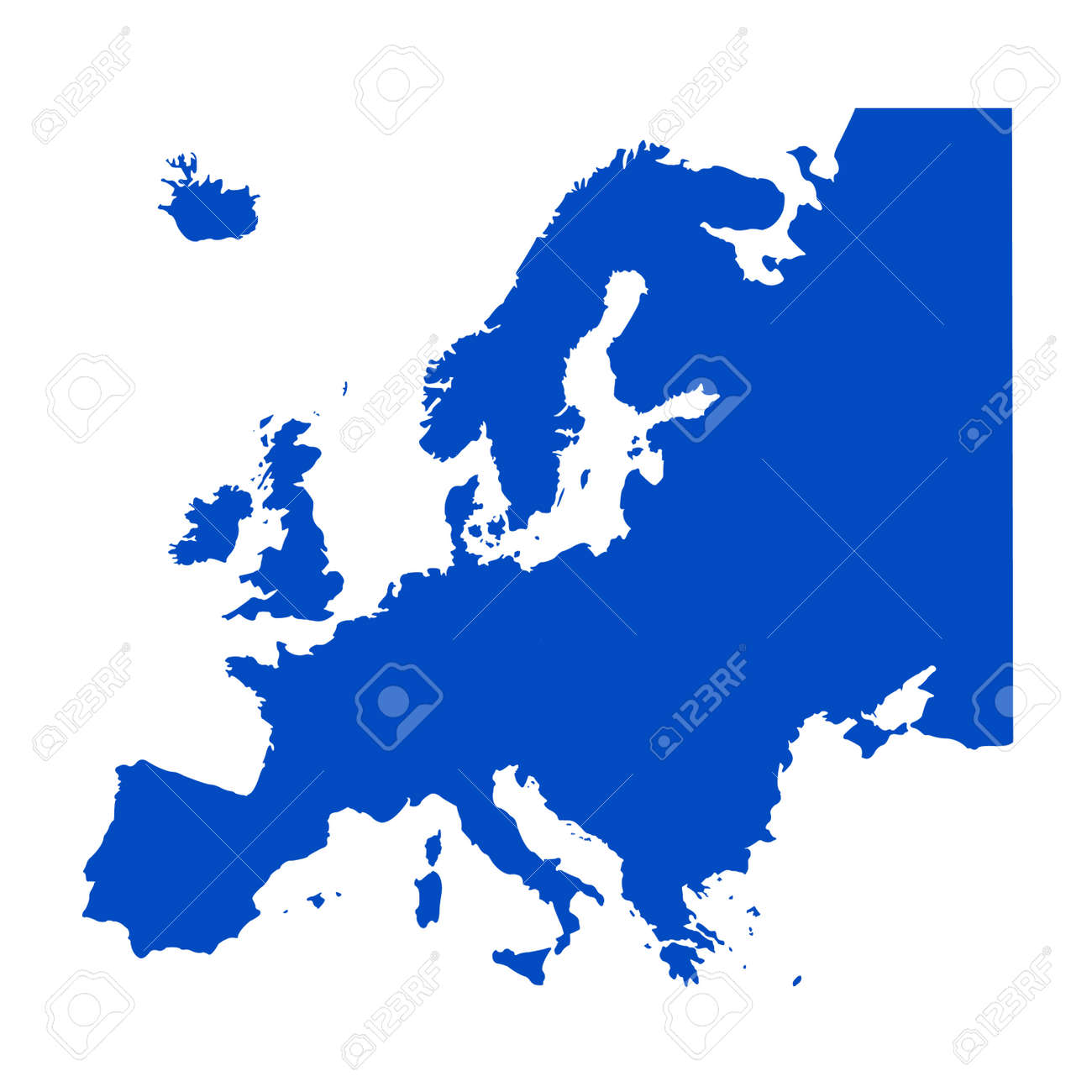 vector illustration of Europe Continent map - 145369954