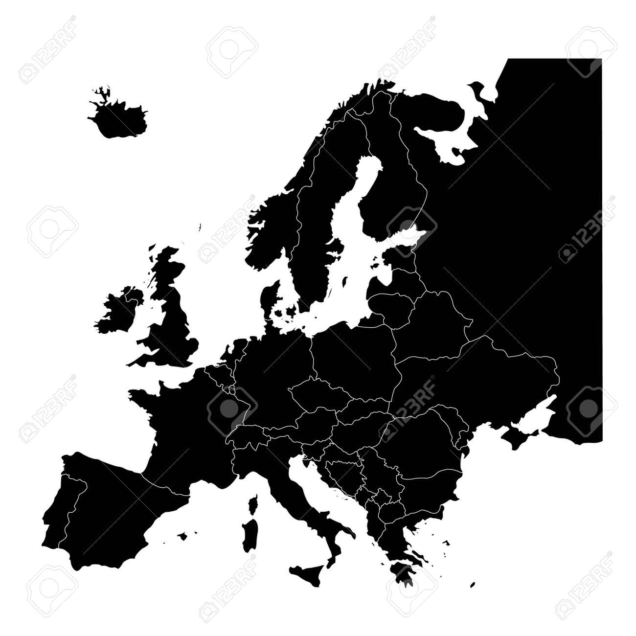 vector illustration of European countries map - 141932715