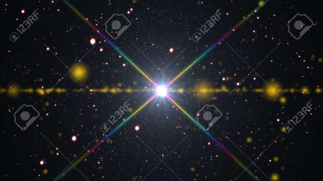 cosmos stars light lens flare - 135787115
