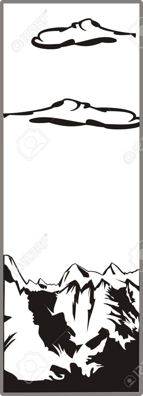 Drawing for sandblasting mirrors 1-23 Stock Vector - 20865465