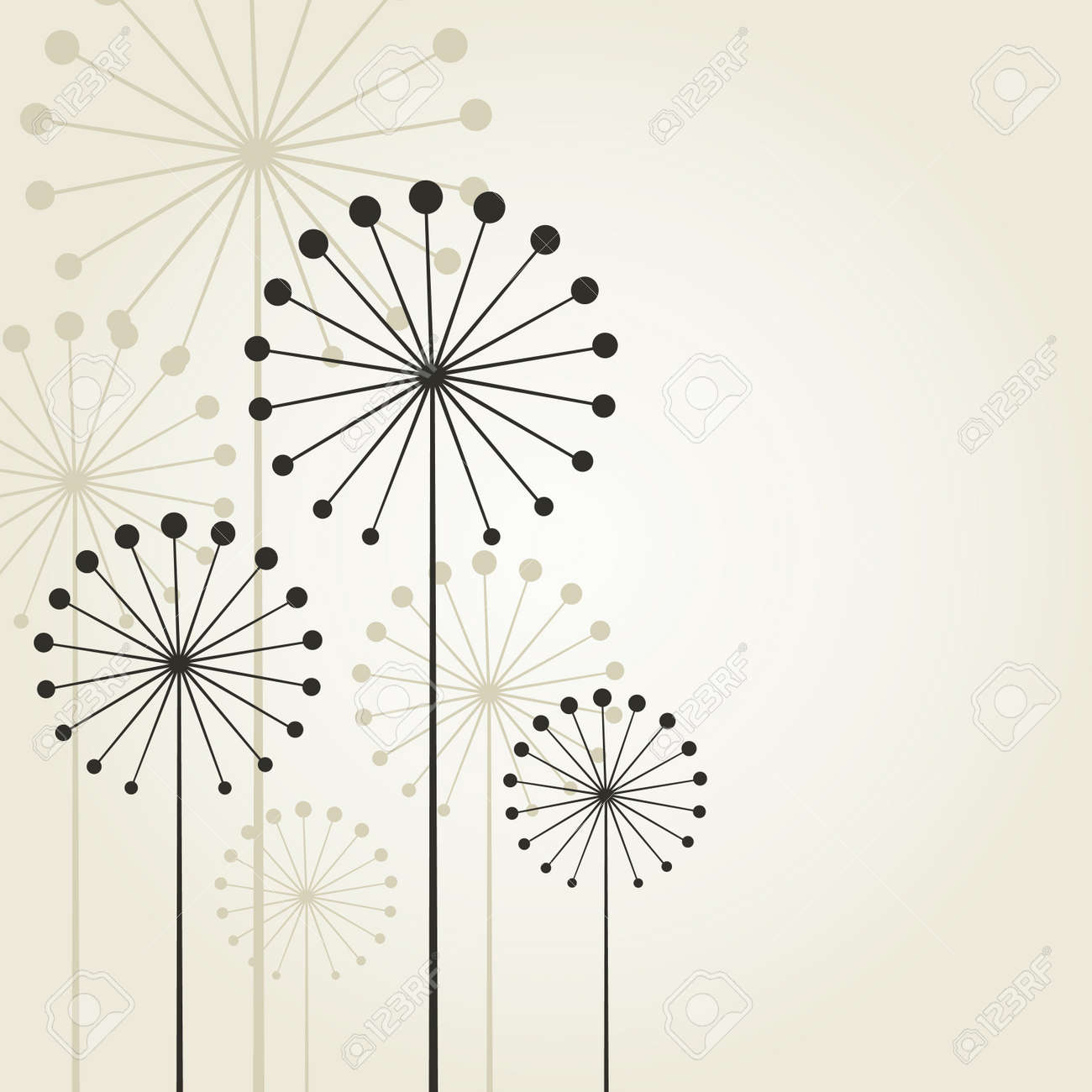 Abstract flower on a grey background. A vector illustration Stock Vector - 13172885
