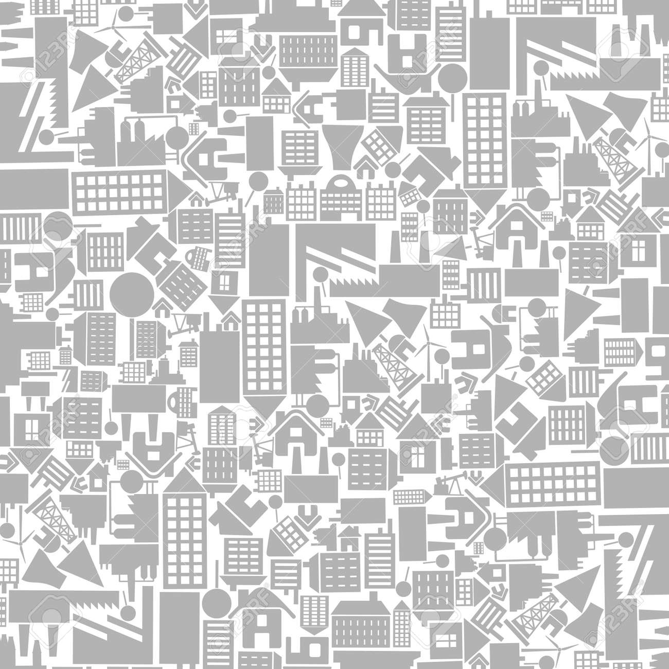 Architectural background from houses. A vector illustration Stock Vector - 14393036