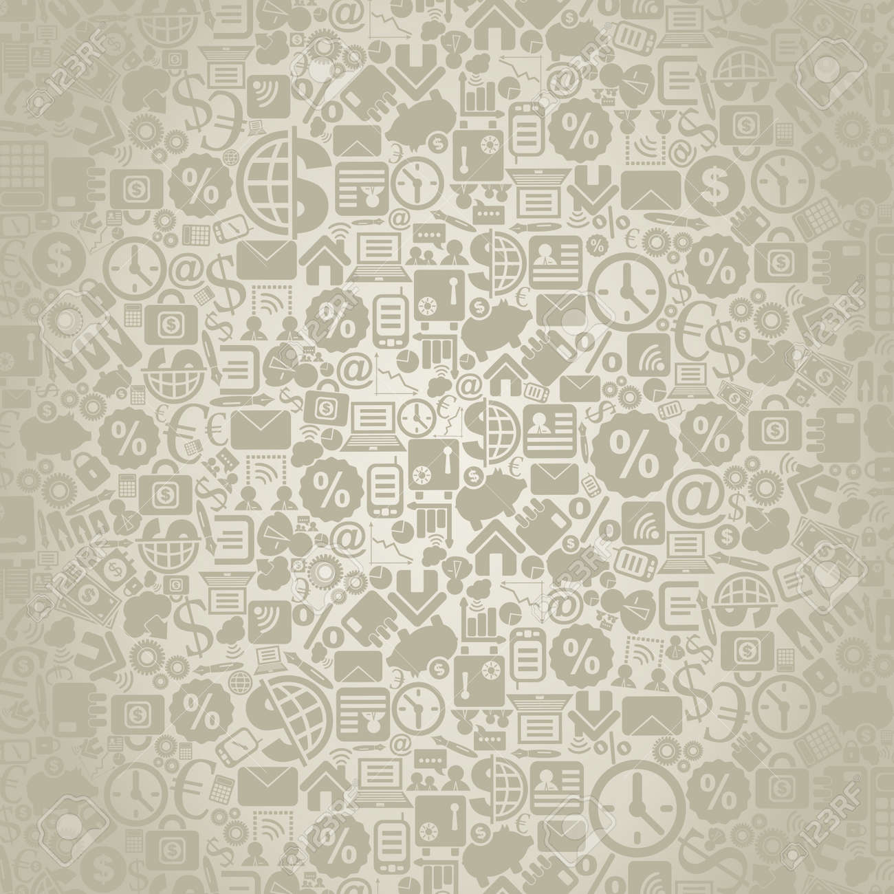 Grey background on a theme business. A vector illustration Stock Vector - 14392967