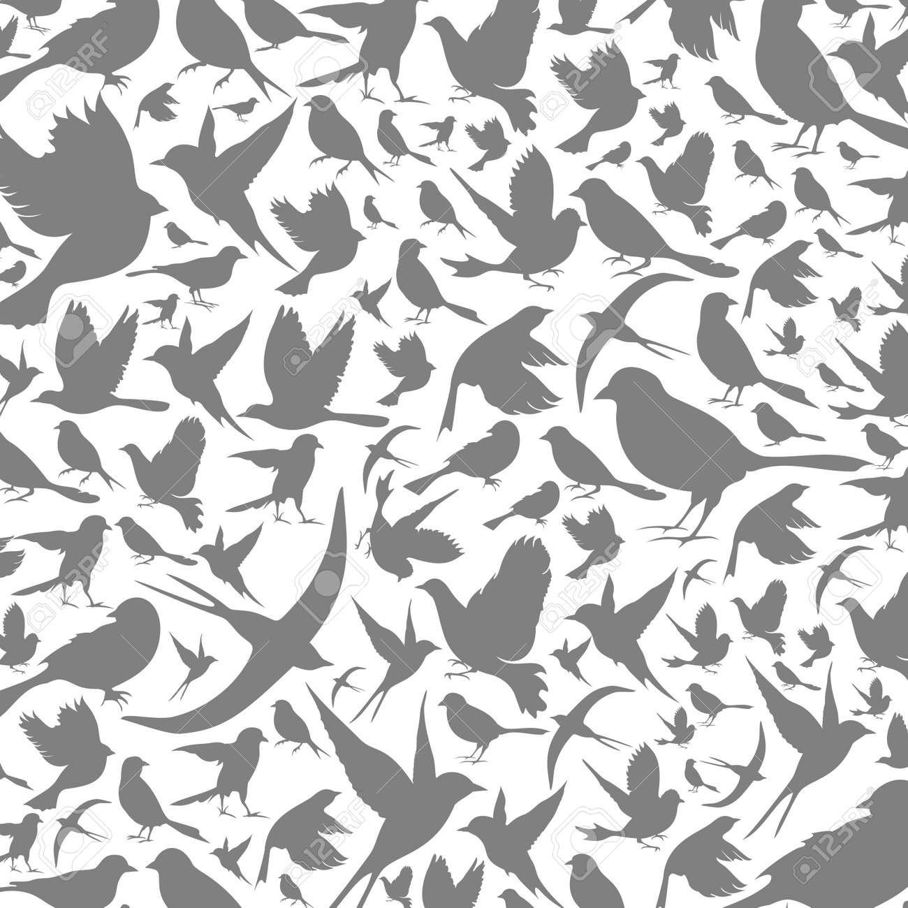 Background made of birds Stock Vector - 15893701