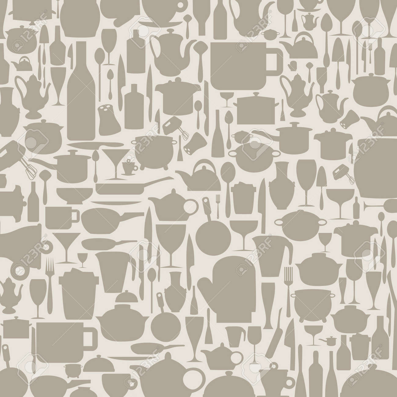 Beau Background On A Theme Kitchen Ware A Illustration Stock Vector   16027876