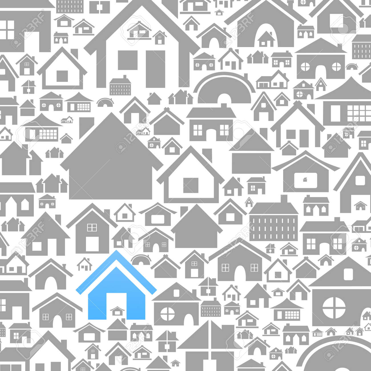 Background made of houses A vector illustration - 16264400