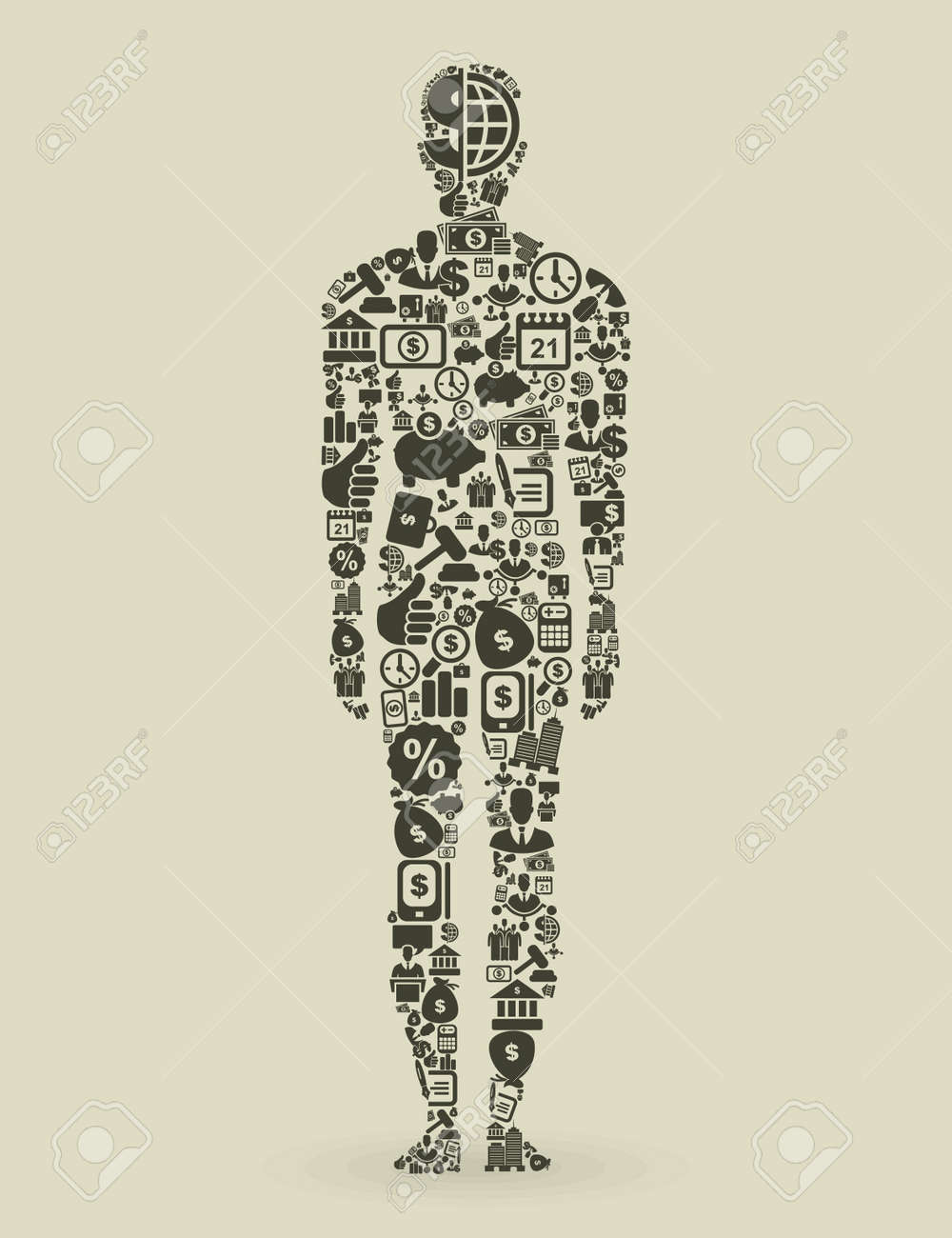 The person made of business  A vector illustration Stock Vector - 16985766