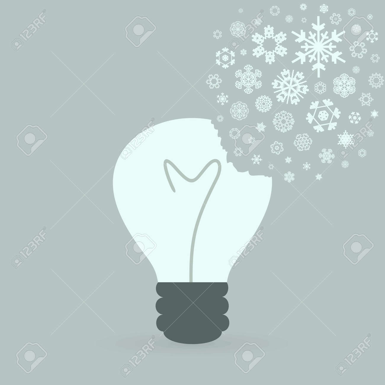 From a bulb snowflakes fly Stock Vector - 18017247